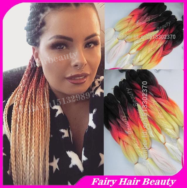 Stocks 20 folded multi colors long synthetic braid hair ombre 20 folded multi colors long synthetic braid hair ombre jumbo braid hair extensions pmusecretfo Images