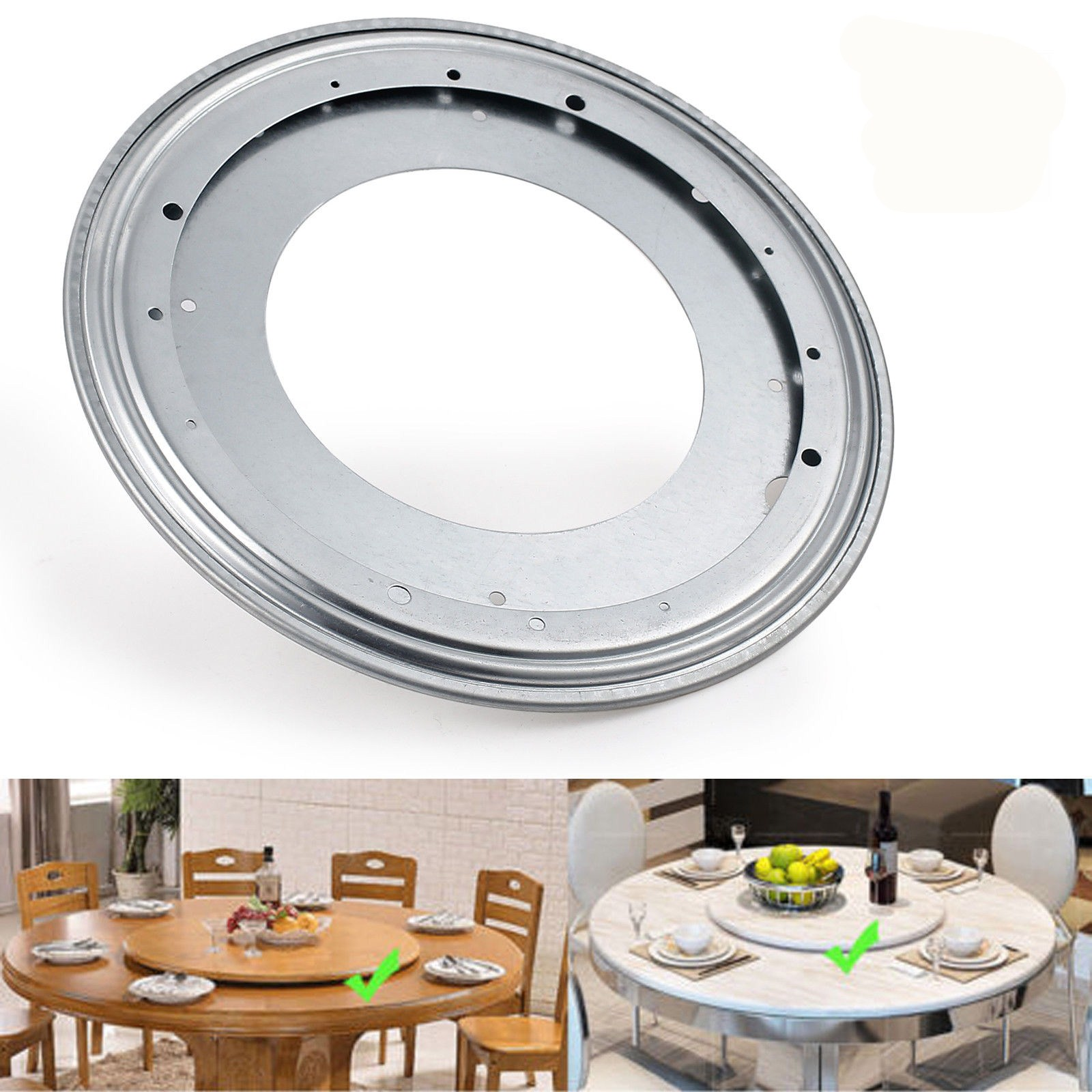 12 Inch Heavy Duty Lazy Susan Bearing Metal Swivel Bearing Swivel Plate Round Turntable Rotating For Table Plate ...