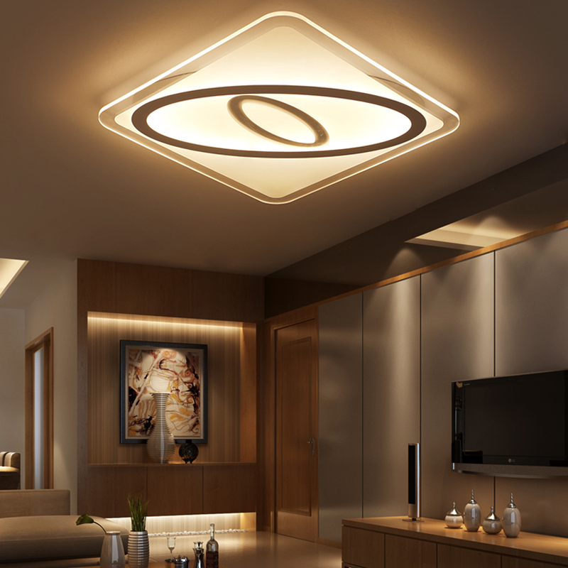 Super-thin Ceiling lights indoor lighting led luminaria abajur ...
