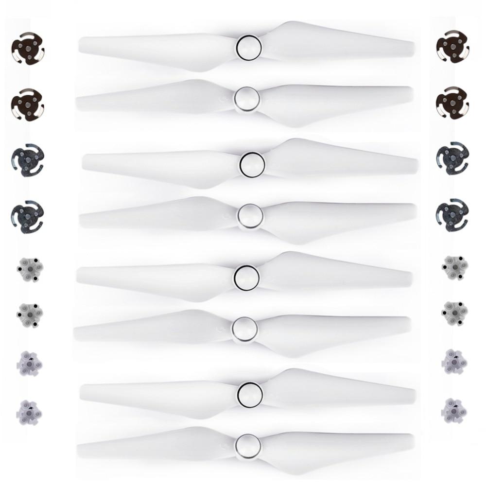 8 piezas DJI Phantom 4 de la hélice 9450 s accesorios para Phantom 4 PRO avanzado Dron de liberación rápida accesorios hoja P4 ala de los Fans de espaã a