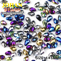 Waterdrop Facetada grânulos de cristal Austríaco 4*6mm 100 pcs qualidade Superior chapeamento de vidro Teardrop contas para fazer jóias pulseira DIY