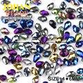 Waterdrop Facetas perlas de cristal Austriaco 4*6mm 100 unids cristal en forma de Lágrima perlas chapado de calidad Superior para la fabricación de joyas pulsera DIY