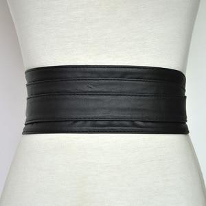 Image 5 - Cinturón de cuero sintético con cordones para mujer y niña, corsé ancho, cinturón adelgazante de cintura alta, lazos, VKAC1002
