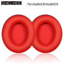 SHELKEE Replacement Ear Pads foam earpads Repair parts For Beats studio2/studio2.0 studio 3,studio3.0 Wireless Headphone 1pair replacement headphone foam earpads for monster beats studio 2 3 2 0 3 0 headset ear pads buds cushion earbud case cover