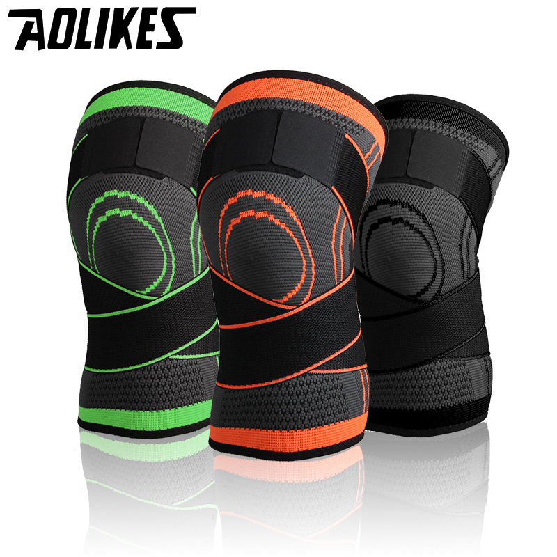 c445676f46 Aolikes 3D weave pressurization knee brace basketball tennis hiking cycling  knee support professional protective sports knee pad
