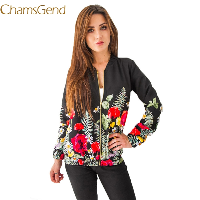 11.11.2017 Women jacket fashion Autumn Winter ladies casual jacket Embroidery Floral turn-down collar women outerwear 44# #42