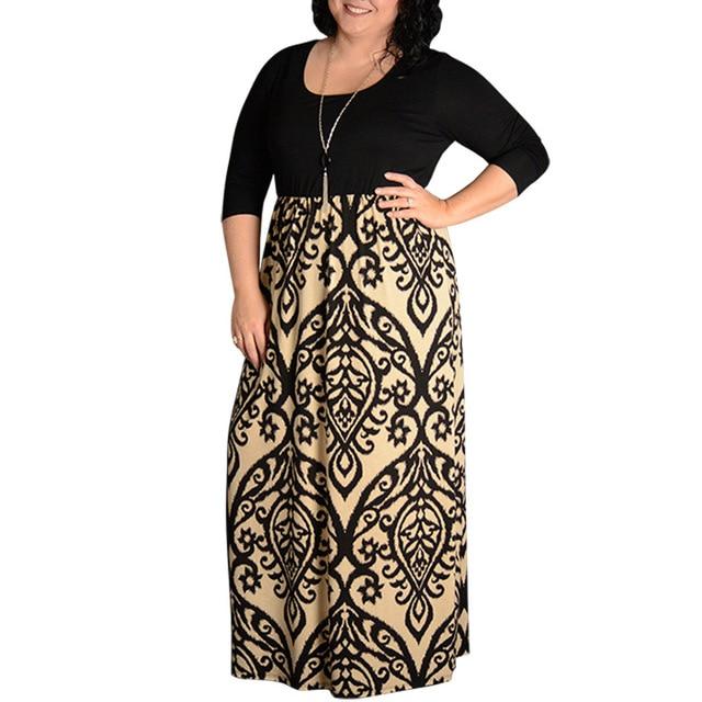 big sale 68820 09151 Große größe 9XL 2019 Fett MM Frau druck kleid Elegante mode lange kleider  plus frauen kleidung 9xl party vestidos