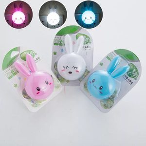 Image 5 - Cartoon Rabbit LED Night Light AC110 220V Switch Wall Night Lamp With US Plug Gifts For Kid/Baby/Children Bedroom Bedside Lamp
