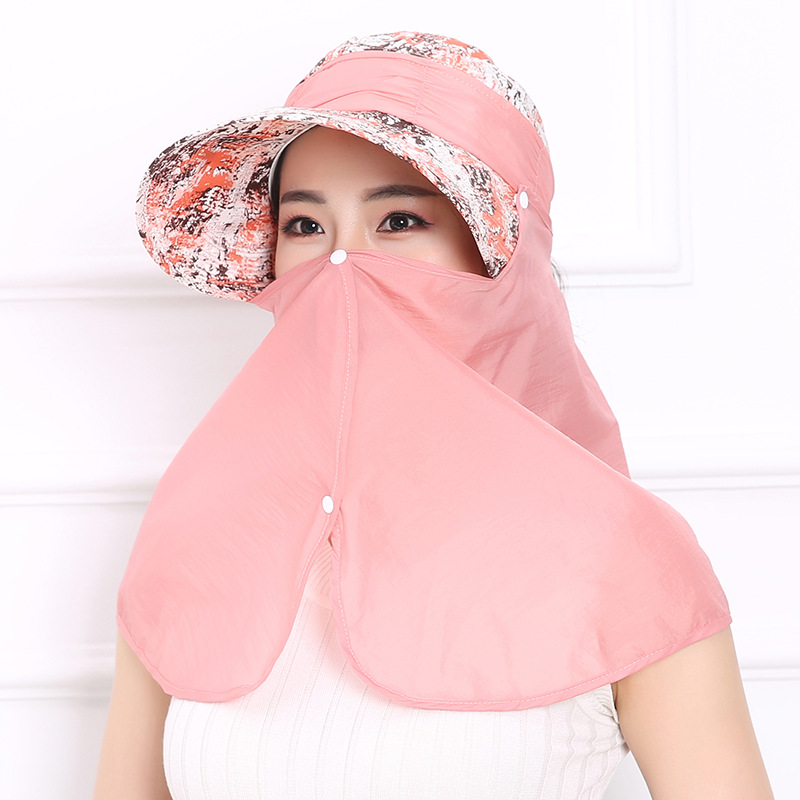 3pcs/Pack Ms. Sun Summer Riding Neck Shoulder Mask Anti Ultraviolet Hat Can Be Folded Pollution Mask