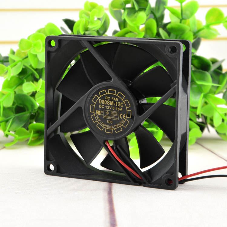 New original D80Sm-12C 12V 0.16A 8cm charger power supply chassis mute fan