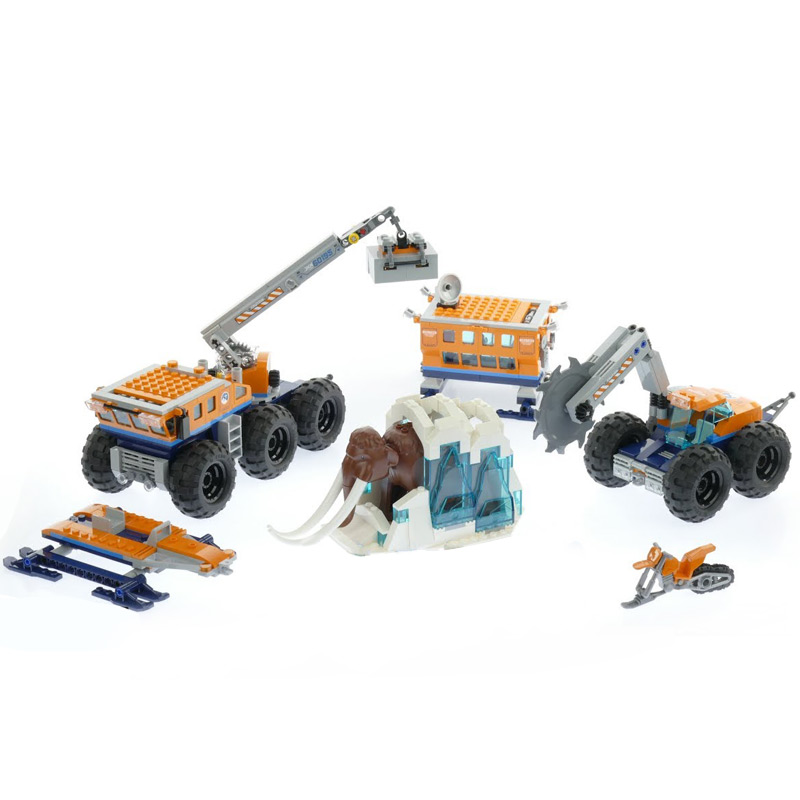 Lepin 02111 City Series legoinglys 60195 Arctic Mobile Exploration Base Set Building Blocks Bricks Car Kids Toys Birthday Gifts