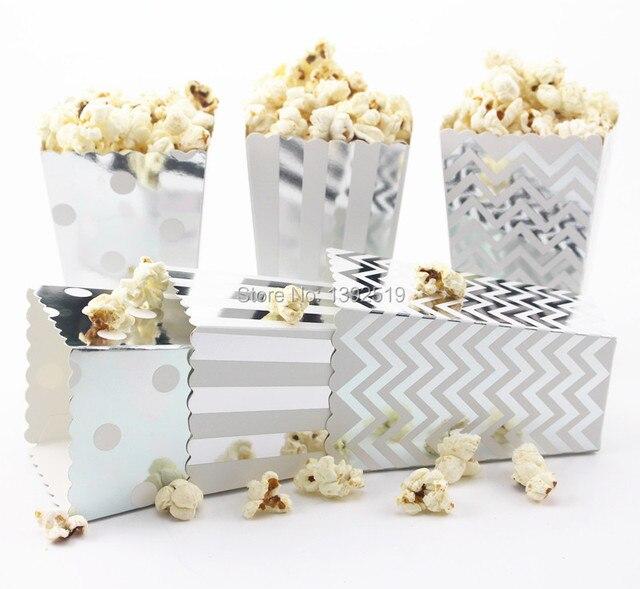 Express 1200pcs Lot Foil Silver Gold Wedding Favors Gifts Paper Popcorn Bo Pop Corn