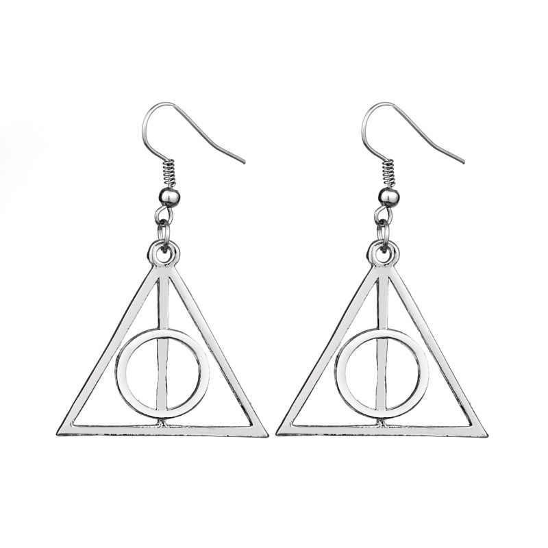 Hp hermione tempo conversor deathly harlows magia brincos anéis pulseira jóias figura de ação brinquedos cosplay