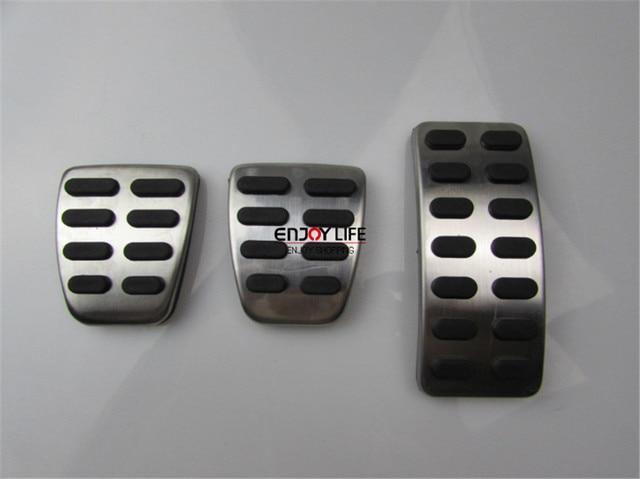 3pcs MT  Gas Fuel Brake Clutch Foot Pedal Pad For Hyundai Accent Solaris 2011- 2016