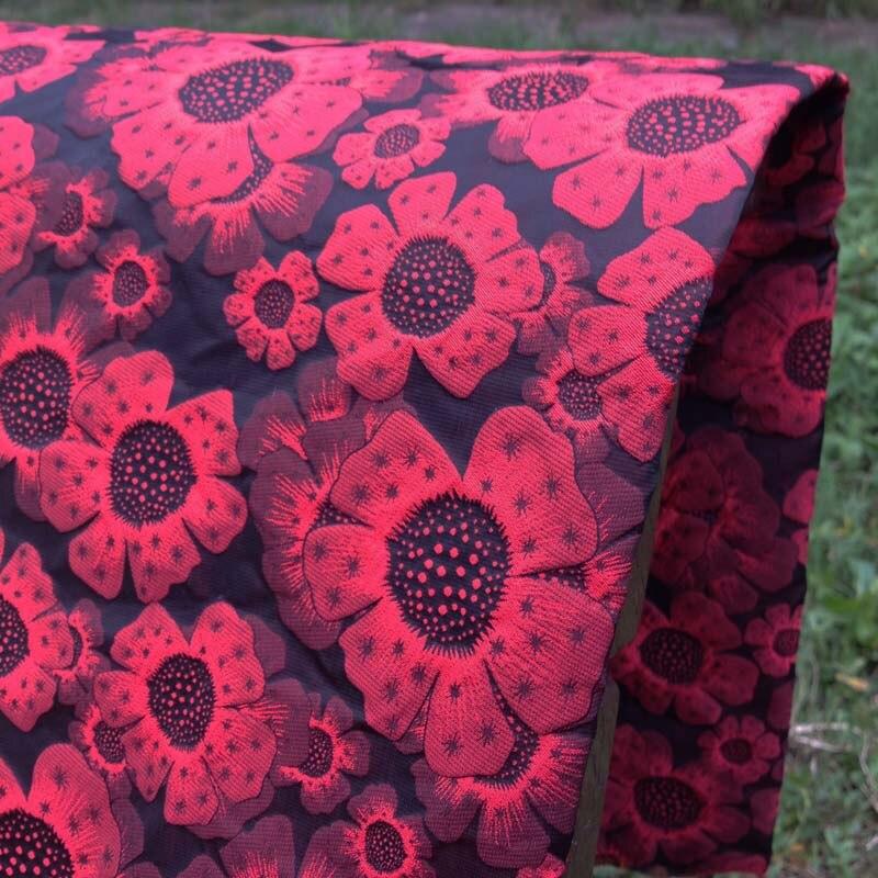38d49784ed6 1 ярд 3D Цветочные жаккардовые парчи ткань для платья