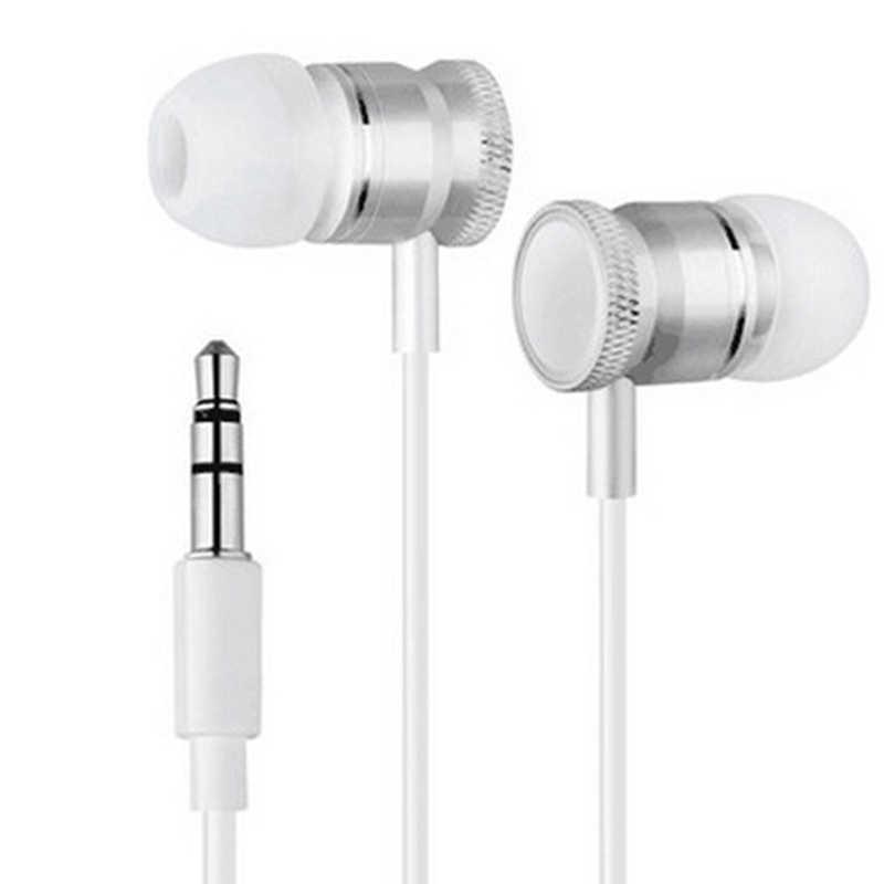 3.5mm jack metalowe słuchawki super bas sportowe słuchawki stereo zestaw głośnomówiący słuchawki z mikrofonem do telefonu komórkowego odtwarzacz muzyczny MP3