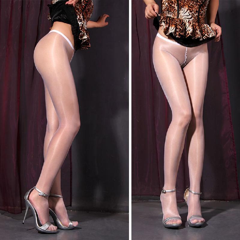 2017 Fashion Women Chinlon Sexy Sheer Oil Shiny Glossy Classic Pantyhose Tights Stockings Long Thin pantyhose women Lady New