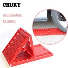 CHUKY 2X Car Tires Grip Track Mats Foldable Bailout Plate For Volvo S60 s90 xc90 s80 BMW E46 E39 E90 E60 Peugeot 206 307 308 508