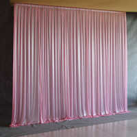 Silk Sheer Drapes Panels Hanging Curtains Party Backdrop Wedding Decoration Drape Big Events Background Cloth 5 Colors 2.4X1.5m