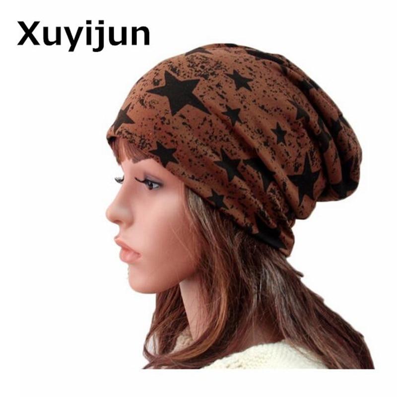 XUYIJUN Free shipping autumn and winter beanies turban Pentacle cap skullies hip-hop stocking hat for women men bonnet free shipping skullies