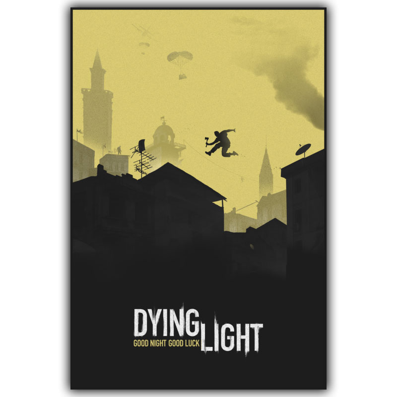 Game Poster Dying Light 2014 Game 4 Sizes Silk Fabric Canvas Poster Print Home Deco YX633