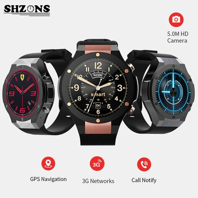 0f15d0fa7206 SHZONS H2 reloj inteligente 3G Internet 1g + 16G memoria Bluetooth GPS Wifi  Sync para iphone