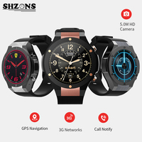 SHZONS H2 Smart Watch 3G Internet 1G+16G Memory Bluetooth GPS Wifi Sync For iphone & android Heart Rate Monitoring 500W Camera