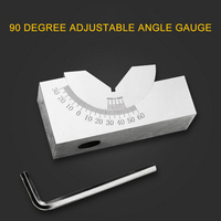 Precision Gauge Micro Milling Setup Adjustable Angle V Blocks 0~60 Degree with Wrench Measuring Tools for Carpenter AP25