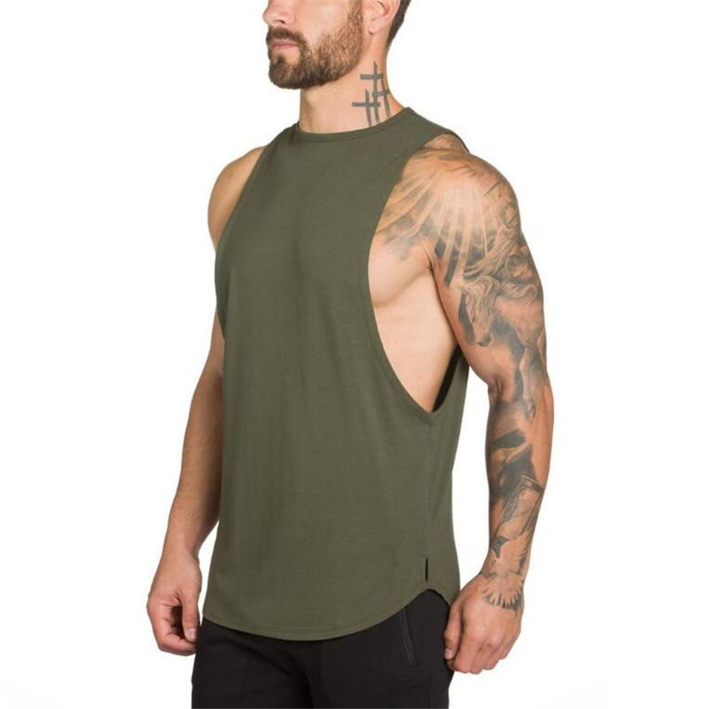 Brand Gyms Stringer Clothing Bodybuilding Tank Top Men Fitness Singlet Sleeveless Shirt Solid Cotton Muscle Vest Undershirt 41