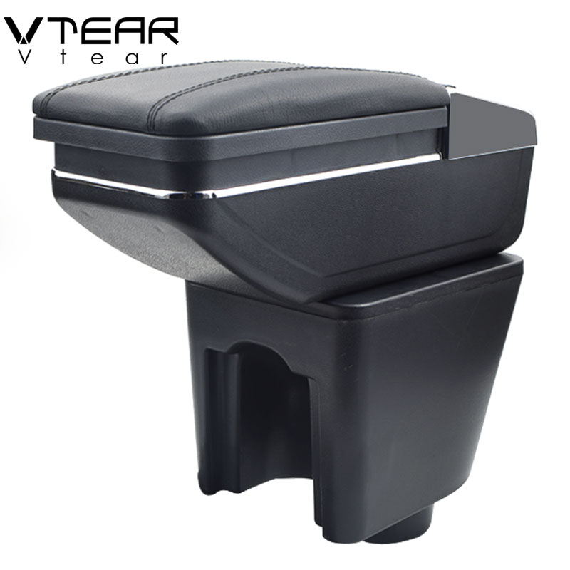 Vtear For Chevrolet Lova armrest box central Store content box with cup holder interior products car