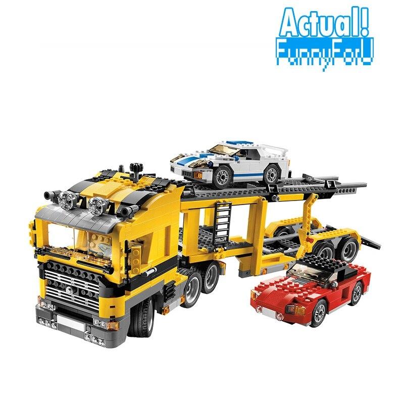 NEW 24011 1344Pcs Technic Series The Three in One Highway Transport Set Building Blocks Brick lepin Toys Model Gift decool 2017 new 3340 technic transport
