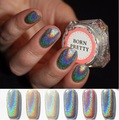 0.5g 1Box Shiny Laser Mirror Powder Nail Art Holographic Powder Unicorn Powder Nail Glitter Hologram Rainbow Chorme Pigments