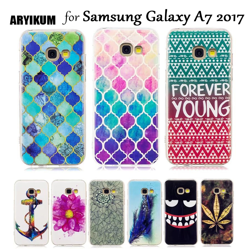 Aryikum корпус смартфона для Samsung Galaxy A7 2017 A720 мягкий силиконовый ультра-тонкая задняя крышка для Samsung A7 7 2017 capinha Капа