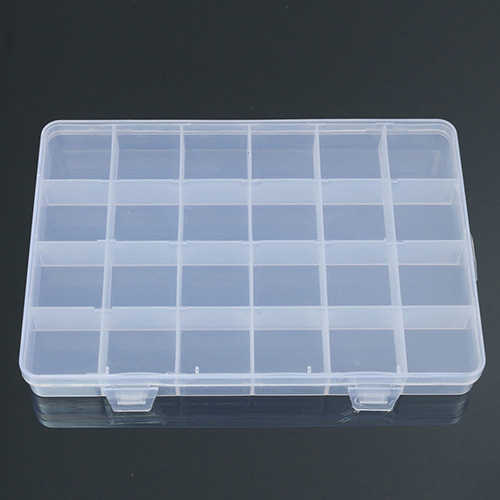 Alibaba Express Boite Bijoux 24 Compartments Plastic Box Case Jewelry Bead Storage Box Container Craft Organizer Drop Shipping