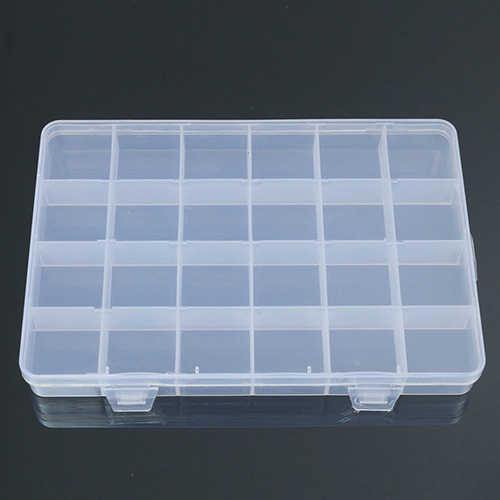 Alibaba Express Boite Bijoux 24 Compartments Plastic Box Case Jewelry Bead Storage Box Container Craft Organizer Drop Shipping