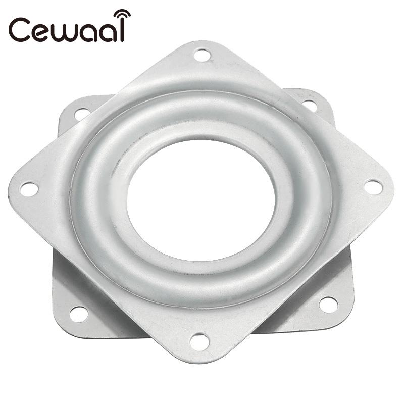Cewaal 7.1x 7.1x0.9cm Stainless Material Bearing 360 degree Rotating Swivel Turntable Plate TV Rack Holder Desk TV Mounts 3 ...