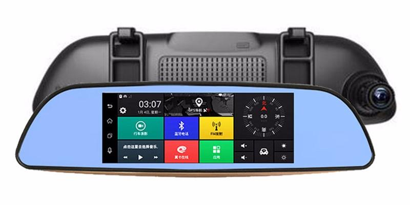 Free 32GB card+3G Car DVR+Android 5.0 Bluetooth GPS WIFI Dual lens rearview mirror camera+FHD1080P camara automovil Phisung H2 20