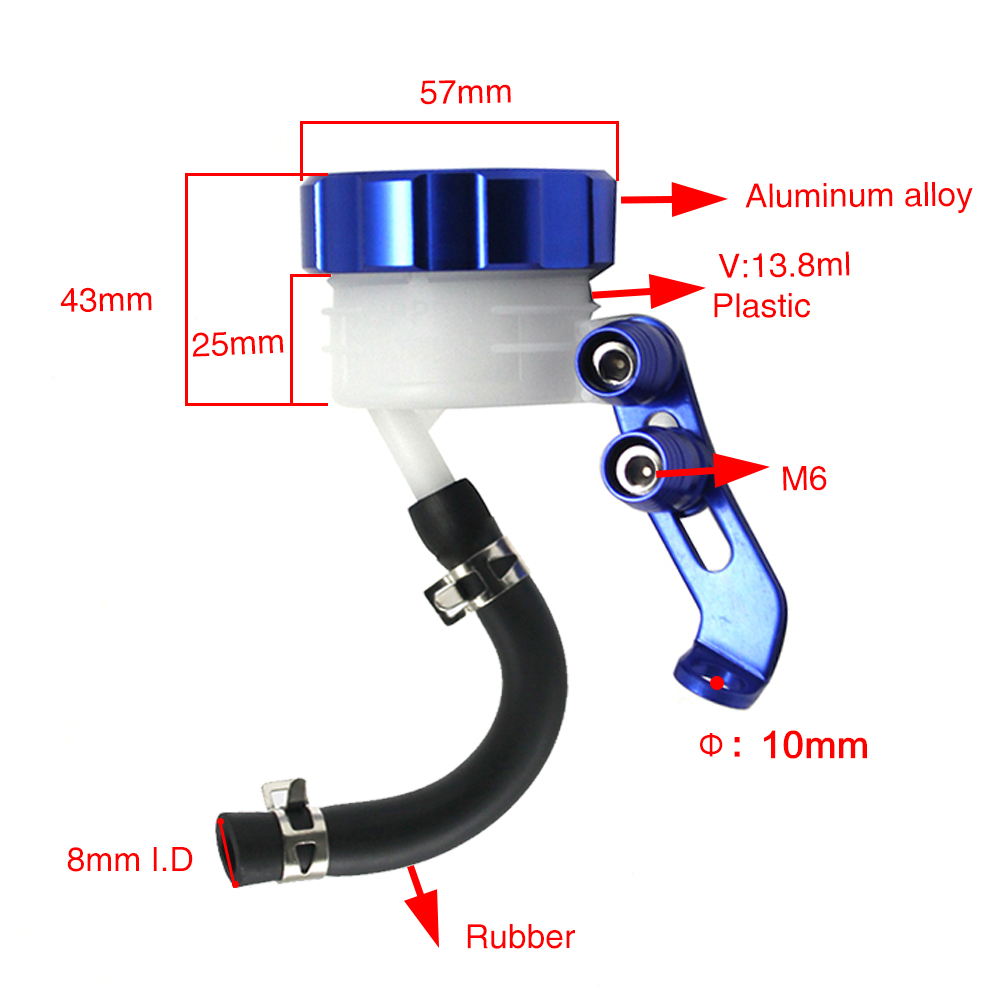 Universal Front Brake Clutch Fuel Tank Oil Cup Cylinder Fluid Tank Motorcycle 5.7 A Wide Selection Of Colours And Designs Back To Search Resultshome