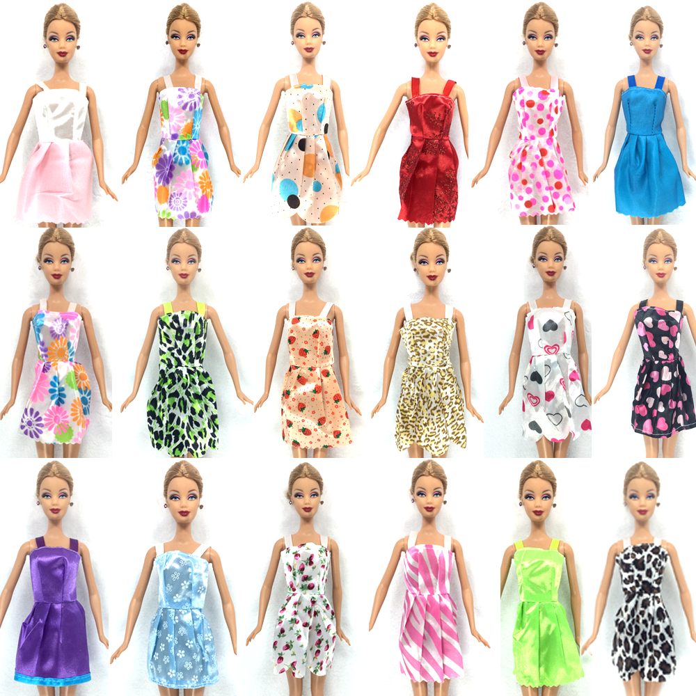 NK-Hot-Sell-26-ItemSet10-Pcs-Mix-Sorts-Beautiful-Party-Clothes-Fashion-Dress6-Plastic-Necklac10-Pair-Shoes-For-Barbie-Doll-2