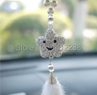 Free Shipping Car Rearview Mirror Hanging Superior Diamond Pendant Lucky Star Cute Accessories Required In Ornaments From Automobiles Motorcycles