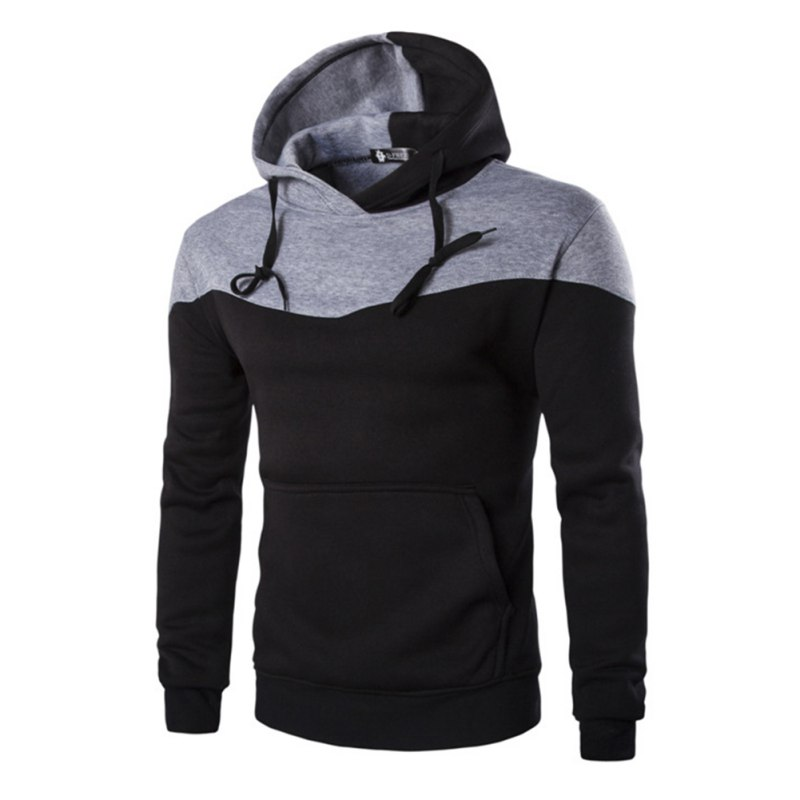 Mode Heren Herfst Winter Hoodies Man Sudaderas Hombre Hiphop Tops Nieuwe Hoodded Decoratieve Pocket Patchwork Sweatshirt