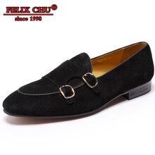 912dfbcb63220 Marque de luxe chaussures décontractées hommes mocassins chaussures haute  qualité hommes chaussures de mariage en cuir