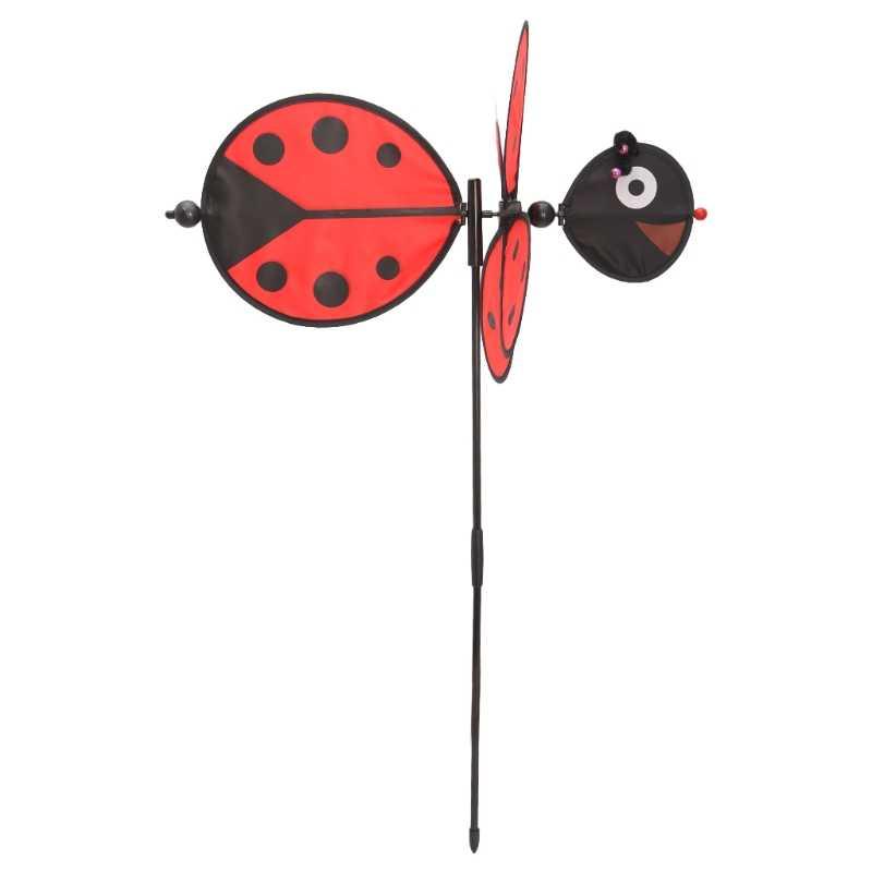 Божья коровка ветряная мельница вихрегиг ветряной Спиннер домашний дворовый садовый Декор детские игрушки