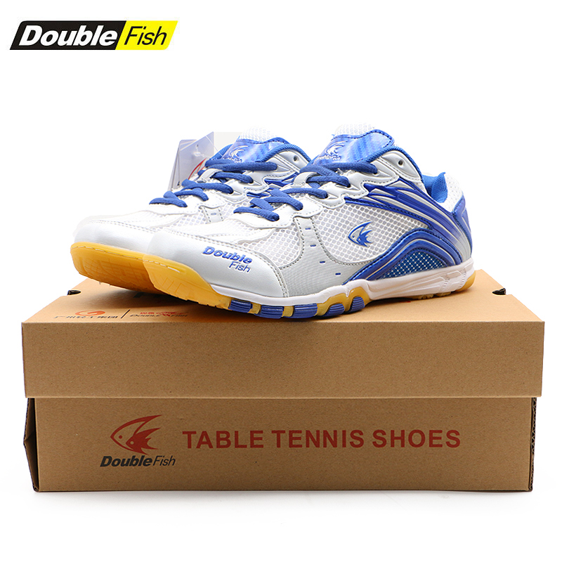 Double Fish Cushioned Men Women Non-slip Breathable Table Tennis Shoes Outdoor Sports Training Sneaker Wear-Resistant Sport Shoe image
