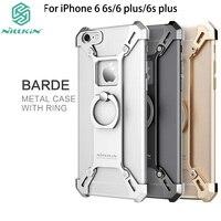 Nillkin עבור iphone 6 6s case מסגרת כיסוי אחורי סגסוגת אלומיניום bardes עם טבעת מחזיק טלפון עבור iphone 6 plus 6s plus case
