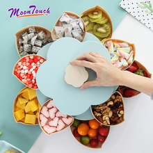 Candy Storage Box Jewelry Box Creative Rotary Snack Organizer Cosmetic Solid Fruit Storage Box Double-deck Flower Design Box europe style creative travel portable jewelry box earrings jewelry receiving box pu storage organizer double deck removable box