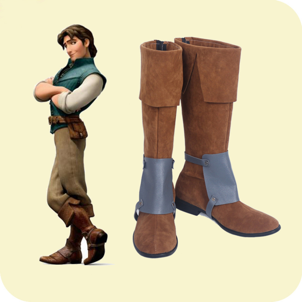 Tangled Rapunzel Flynn Ryder Prince Cosplay Shoes Boots Halloween Carnival Cosplay Costume Accessories For Men