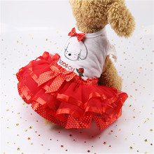 Dog Lace clothes Small Skirt Princess Dress Floral Bow Clothing Pet Puppy Clothes Costume Dresses For