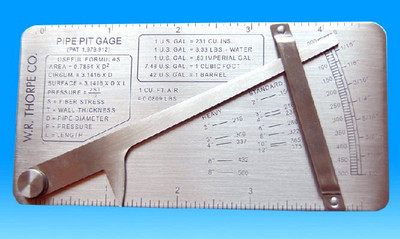 ФОТО WG-20PPG Cat # 17  pipe pit gage