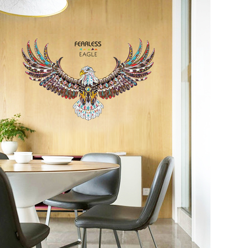 new eagle wings large wall stickers home decor living room diy art ...